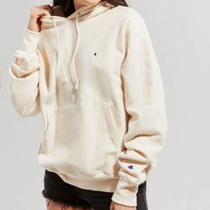 UO x Champion reverse weave hoodie in cream